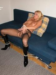 Sexy legs. Adriana tied spread. - Unique Bondage - Pic 17