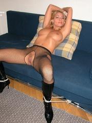 Sexy legs. Adriana tied spread. - Unique Bondage - Pic 18