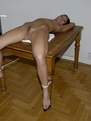 Sexy legs. Sheridan gets tied naked fully - Unique Bondage - Pic 6