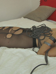Sexy pantyhose. Efrona tied manhandled and - Unique Bondage - Pic 3