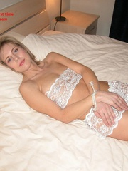 Sexy lingerie. Mature linda tied in bed legs - Unique Bondage - Pic 8