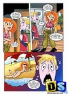 Cartoon redhead Kim Possible having dirty…