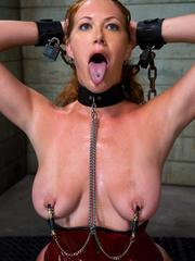 Bondage sex. Slave Slut Sabrina Fox Trained - Unique Bondage - Pic 4