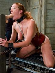 Bondage sex. Slave Slut Sabrina Fox Trained - Unique Bondage - Pic 5