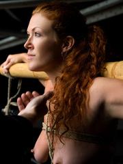 Bondage sex. Slave Slut Sabrina Fox Trained - Unique Bondage - Pic 7