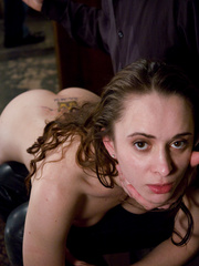 Bondage. Slave girl trained to service cock. - Unique Bondage - Pic 10