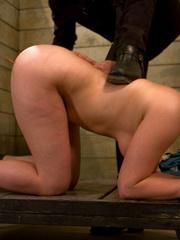 Bdsm porn. Gorgeous Slave girl Trained in - Unique Bondage - Pic 1