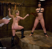 Hard porn. Threesome Slave girl Satine Phoenix…
