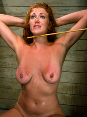 Bondage. Hot Redheaded slave girl trained to - Unique Bondage - Pic 9