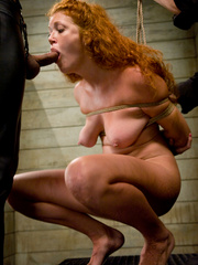 Bondage. Hot Redheaded slave girl trained to - Unique Bondage - Pic 12
