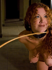 Rough sex porn. Red Headed slave girl serves - Unique Bondage - Pic 1