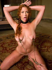 Rough sex porn. Red Headed slave girl serves - Unique Bondage - Pic 5