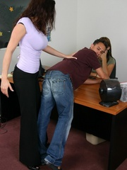Strap on porn. Man gets spanked and fucked - Unique Bondage - Pic 3