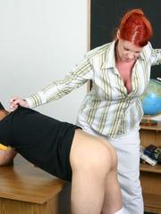 Femdom slave. Woman strapon fucks her man's - Unique Bondage - Pic 12