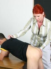 Femdom slave. Woman strapon fucks her man's - Unique Bondage - Pic 13