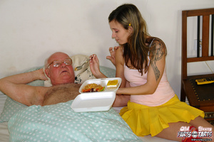Xxx hardcore. Grandpa fucking the food d - Picture 3