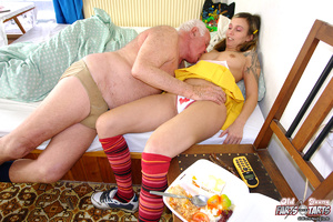 Xxx hardcore. Grandpa fucking the food d - Picture 5