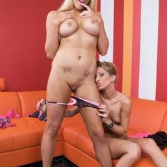 Xxx lesbian. Strap on sex with lesbos. - Unique Bondage - Pic 2