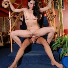 Hot lesbian. Horny lesbians fucking with - Unique Bondage - Pic 10