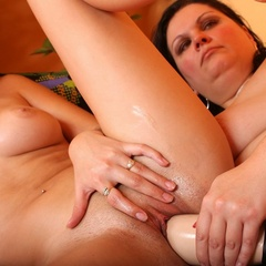 Straponsex. Lesbians share strap on dildo. - Unique Bondage - Pic 10