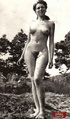 Hairy nude. Several outdoor vintage ladies going fully naked outdoor.
