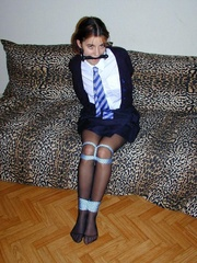 Bdsm sex. Schoolgirl bondage. - Unique Bondage - Pic 2