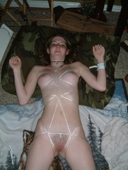 Bdsm. Gf roped to the bed. - Unique Bondage - Pic 5