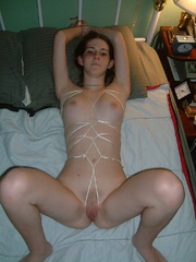 Bdsm. Gf roped to the bed. - Unique Bondage - Pic 8