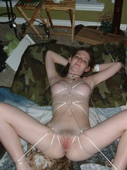 Bdsm. Gf roped to the bed. - Unique Bondage - Pic 11