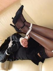 Bondage sex. Busty girl gets bound and then - Unique Bondage - Pic 9