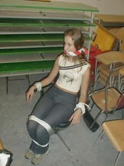 Bdsm girls. Roped and photographed at work. - Unique Bondage - Pic 5