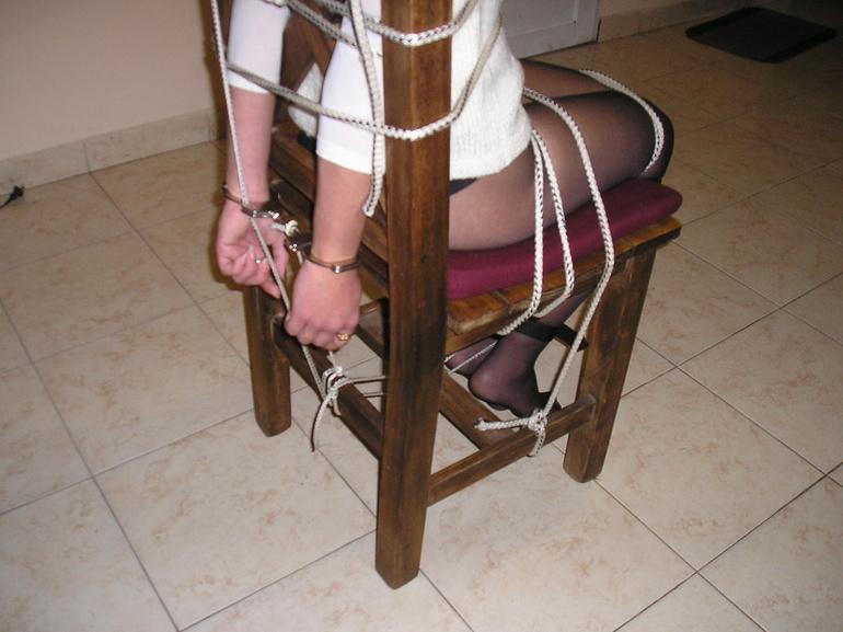 Bondage. Beauty gets bound to her chair. - Unique Bondage - Pic 4