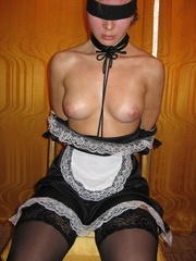 Bondage sex. Forced to dress as a maid this - Unique Bondage - Pic 1