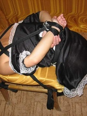 Bondage sex. Forced to dress as a maid this - Unique Bondage - Pic 2