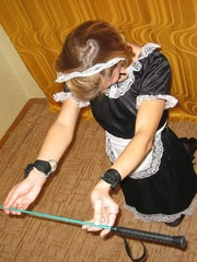 Bondage sex. Forced to dress as a maid this - Unique Bondage - Pic 7