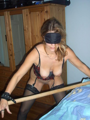 Bondage sex. Forced to dress as a maid this - Unique Bondage - Pic 12