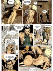 Bdsm art. Life of a female prisoner.
