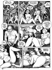 Bondage comics. Two young girls get whipped.