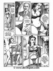 Bdsm comics. Girl and a sales clerk.