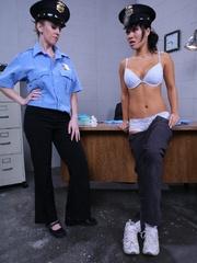 Strap on porn. Natali deals with dirty cops. - Unique Bondage - Pic 6