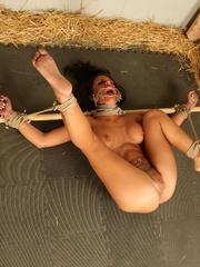 Femdom sex. Natali Demore interrogates Mya - Unique Bondage - Pic 14