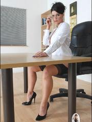 Girls in stockings. Mature leggy office - Unique Bondage - Pic 5