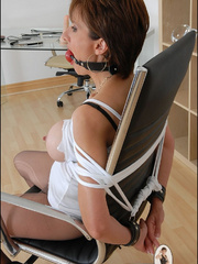 Mature. Lady sonia bondage. - Unique Bondage - Pic 5