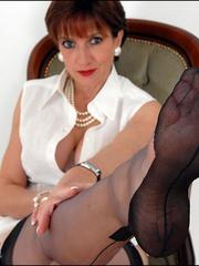 Horny mature. Mature feet in stockings. - Unique Bondage - Pic 5
