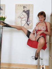 Stocking porn. British milf toys. - Unique Bondage - Pic 3