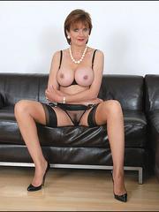 Mature female. Busty leggy milf in nylon. - Unique Bondage - Pic 4