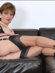 Mature female. Busty leggy milf in nylon. - Unique Bondage - Pic 5