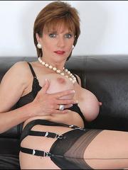 Mature female. Busty leggy milf in nylon. - Unique Bondage - Pic 6