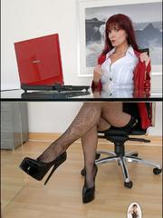 Panty hose porn. Milf company boss. - Unique Bondage - Pic 4
