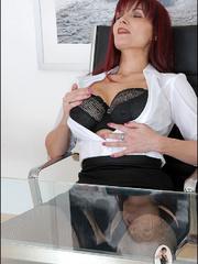 Panty hose porn. Milf company boss. - Unique Bondage - Pic 9